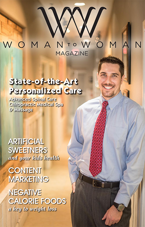 Dr. Brad Bartel as featured on the cover of Woman to Woman Magazine