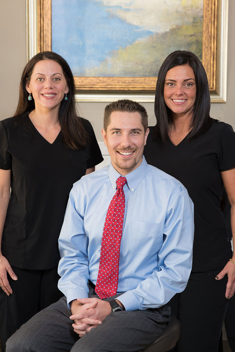 Dr. Brad with staff members Holly and Melissa